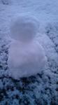 念願の雪だるま